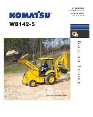 Iş makineleri Komatsu WB 142-5