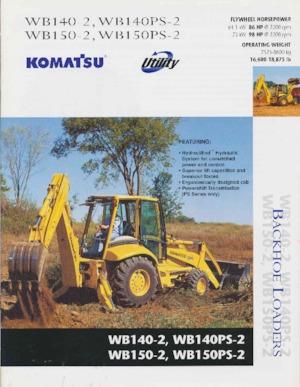 Backhoe Loaders Komatsu WB 150-2