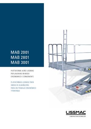 Bricklayers work platforms Lissmac MAB2801