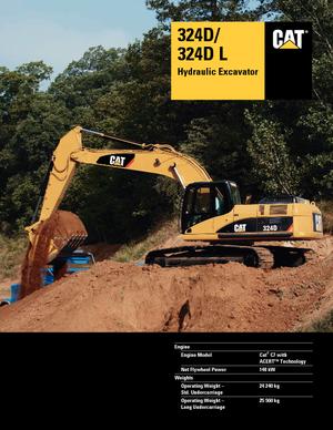 Crawler Excavators Caterpillar 324D LN