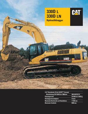 Crawler Excavators Caterpillar 330D LN