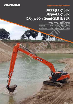 Paletli ekskavatörler Doosan DX300LC-7 SLR
