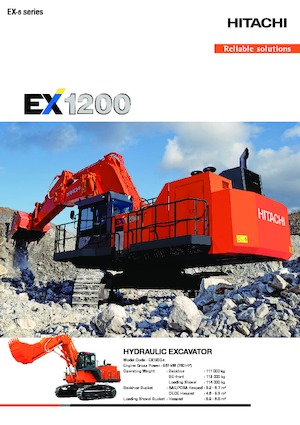 Paletli ekskavatörler Hitachi EX1200-6