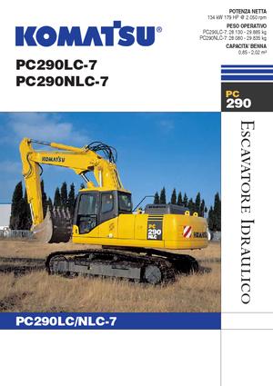 detailed pc290lc 7 komatsu it technical specification in 1 pdf rh lectura specs com Komatsu Pc290 Specs Excavators KOMATSU Pc290