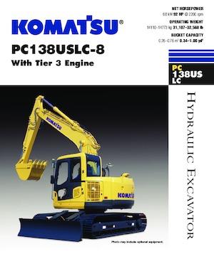 Paletli ekskavatörler Komatsu PC138USLC-8
