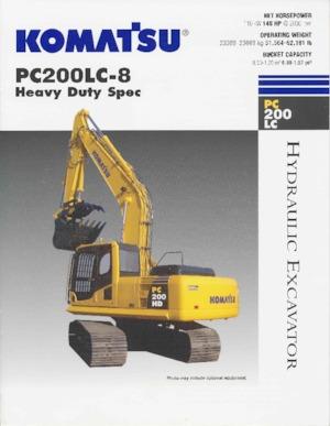 Paletli ekskavatörler Komatsu PC200-8
