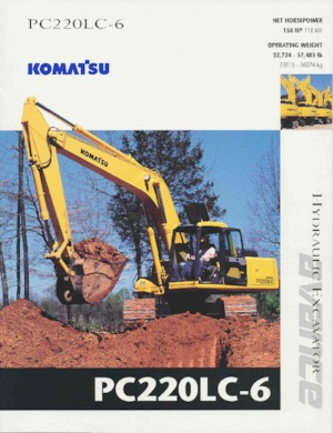 Paletli ekskavatörler Komatsu PC220LC-6