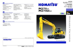 Paletli ekskavatörler Komatsu PC270LC-8