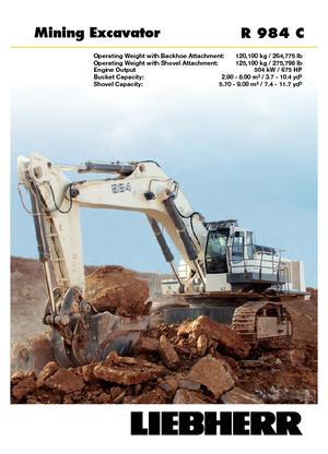 Crawler Excavators Liebherr R 984 C