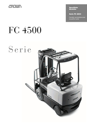 Electric Front-Forklift  Trucks Crown FC 4525 2.0