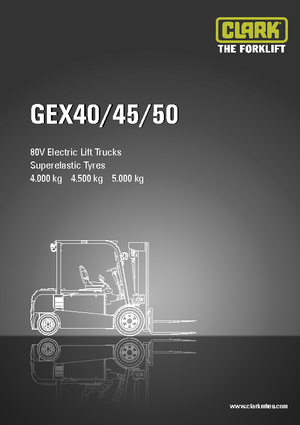 Elektrikli ön-forklift kamyonları Clark GEX 50