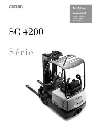 Electric Front-Forklift  Trucks Crown SC 4240 1,6