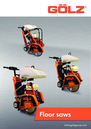 Floor Saws hand infeed-Electric Gölz FS 125 E