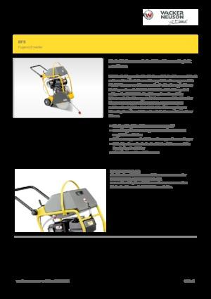Zemin tezgahları elle besleme-benzin Wacker Neuson BFS 940
