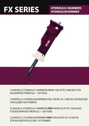 Hydraulic chipping hammers Hydra Ram FX-10