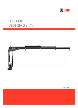 Hydraulic loading cranes Hiab 008 T-1 PTO