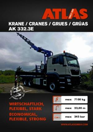 Hydraulic loading cranes Atlas AK 332.3 E A5 Z4