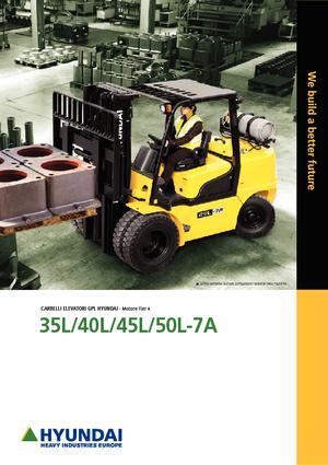 LPG Front Forklift Trucks Hyundai 50 L 7 A