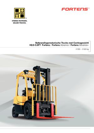 LPG Front Forklift Trucks Hyster H 2.0 FT