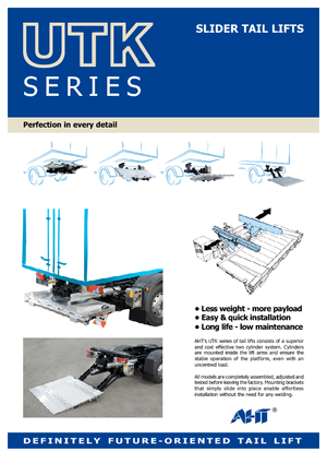 Platformları yükleme AHT UTK 1000 ST/AL