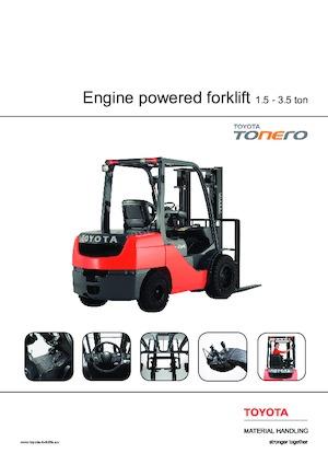 LPG Front Forklift Trucks Toyota 02-8 FGF 18