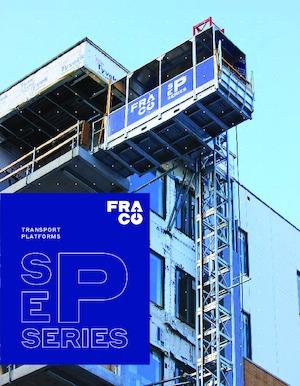 Direk tırmanma çalışma platformları Fraco SEP 5000