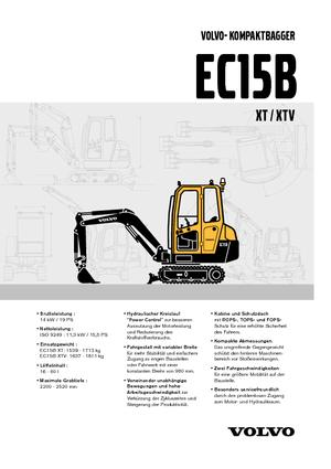 Mini Excavators Volvo EC15B XT