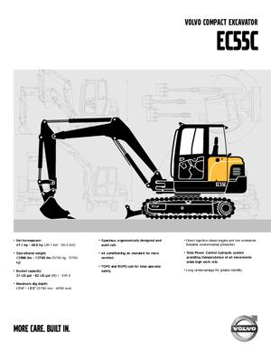 Mini Excavators Volvo EC55C
