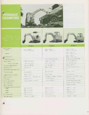Mini ekskavatörler Komatsu PC20-1