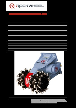 Mountable Milling Heads (hydr.) Rockwheel G 60