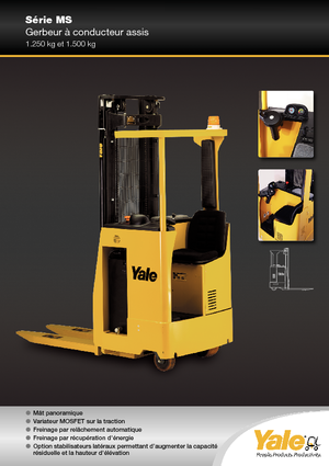 Pallet stacker with rider seated Yale MS 12 S