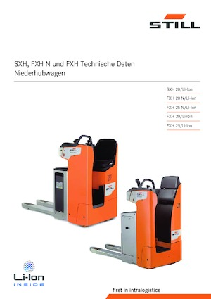 Pallet truck with rider seated Still FXH 25