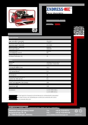 Benzin jeneratörleri 3000 Endress ESE 1506 DHS-GT ES