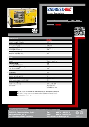 Benzin jeneratörleri 3000 Endress ESE 908 DBG ES DIN Super Silent Plus
