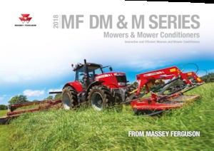 Rear-mounted mower disc with conditioner Massey Ferguson DM 367 TL-V-RC