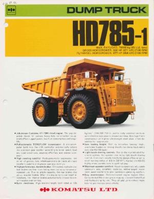 Sabit damperli kamyon Komatsu HD785-1