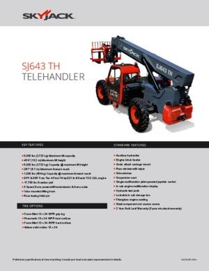 Telescopic Handlers Skyjack SJ 643 TH