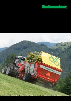 Kısa mesafeli silaj römorkları Pöttinger Boss Alpin 211
