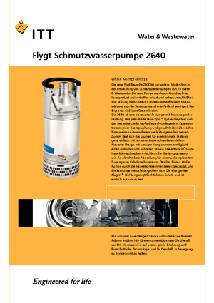 Submersible sewage pumps Flygt-Pumpen 2640 LR 251