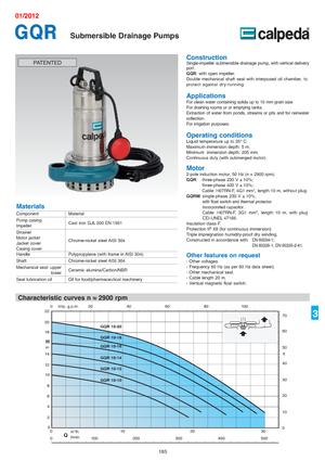 Submersible sewage pumps Calpeda GQR 10-14