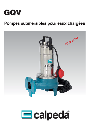 Submersible sewage pumps Calpeda GQV 50-15