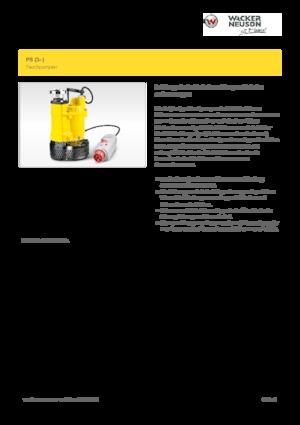 Submersible sewage pumps Wacker Neuson PS3 1503