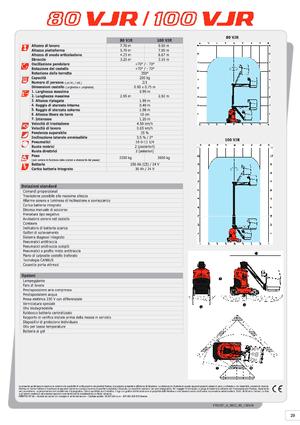 Telescopic Vertical Work Platforms Manitou 100 VJR Evolution