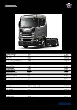 Tractor units Scania S 370 A4X2NA