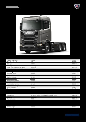 Tractor Scania S 370 A4X2NA
