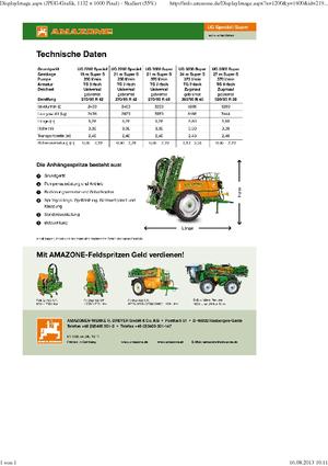 Trailed field sprayers Amazone UG 3000 Spezial (21)