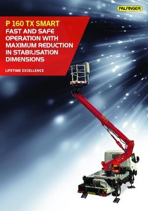 Kamyon monteli teleskopik çalışma platformları Palfinger P 160 TX