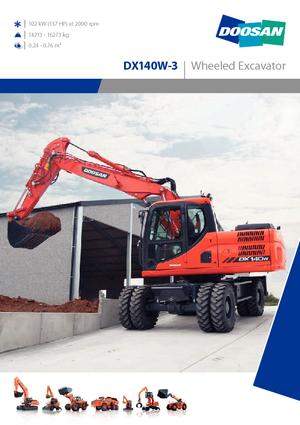 Wheel Excavators Doosan DX140W-3