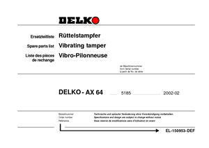 Vibrating tampers with 4-stroke petrol engine Delko AX 64