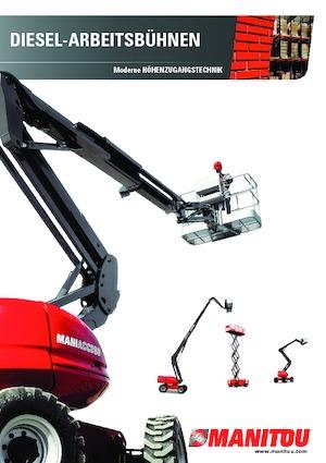 Wheeled scissor lifts Manitou 100 SC